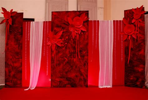 Wedding Backdrop Design Red | creative wedding black white backdrops red n black