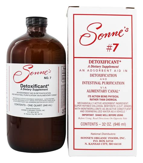 Sonne 7 Detox by Buy Sonne S Detoxificant Liquid Hydrated Bentonite Clay