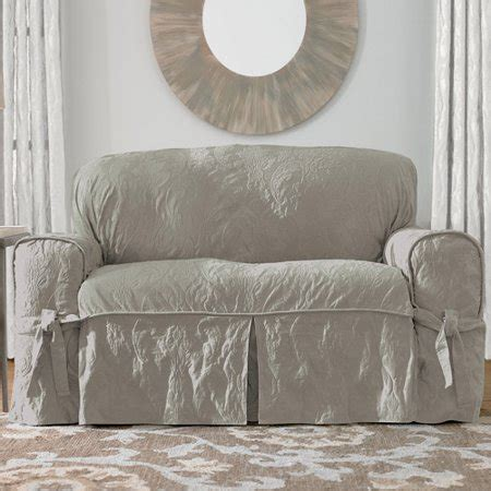 Damask Sofa Slipcover by Sure Fit Matelasse Damask Sofa Cover Walmart