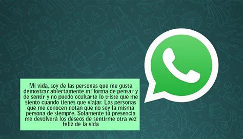 Imagenes De Whatsapp Te Extraño | whatsapp 10 mensajes de c 243 mo decirle quot te extra 241 o quot a tu