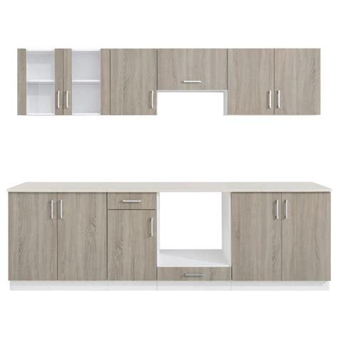 kitchen cabinet unit oak look kitchen cabinet unit 8 pcs vidaxl co uk
