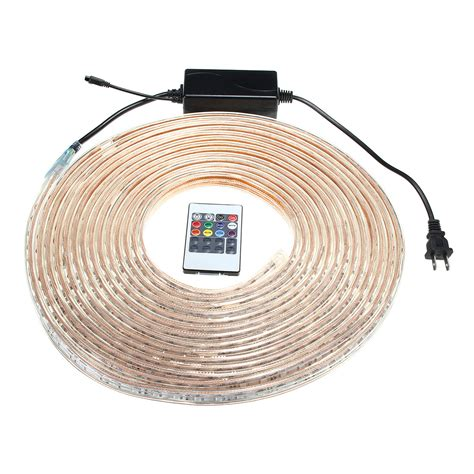 outdoor led strip lights with remote 10 15m smd5050 led rgb flexible outdoor waterproof