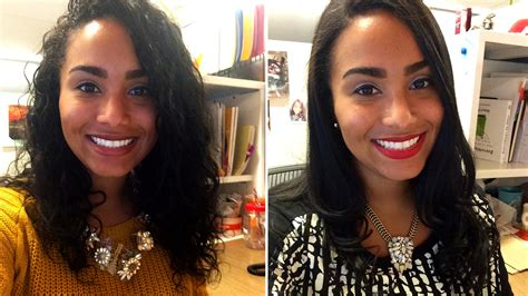 should i wear my hair curly or straight curlpower women switch from curly to straight hairstyles