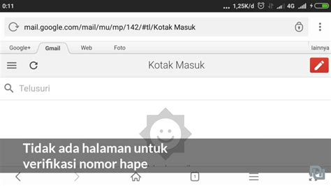 bisakah membuat akun gmail  verifikasi nomor hp