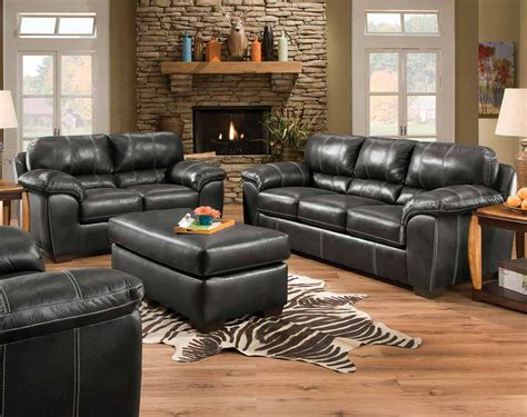 black fabric set yahtzee onyx sofa and loveseat