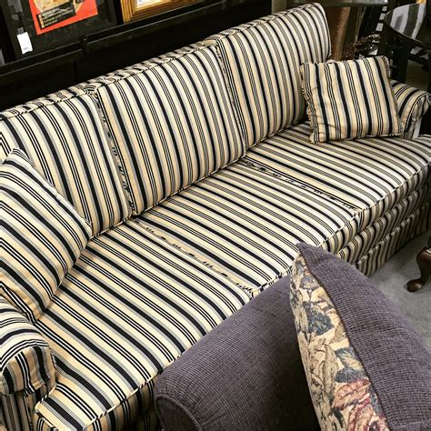 navy striped sofa 84 quot navy stripe sofa sold designsbyconsign