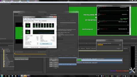 adobe premiere cs6 nvidia tutorial jak przyspieszyć rendering dzięki technologi
