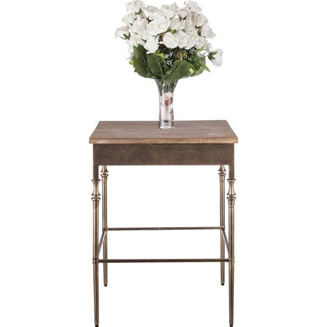 minimal rustic wrought iron wood side end table buy