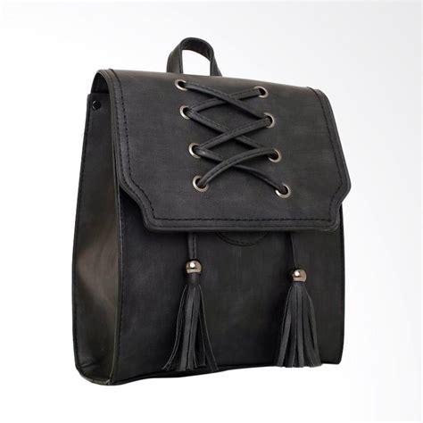 Tas Wanita 05 Hitam jual kgs import kerja woven lace tas ransel wanita hitam