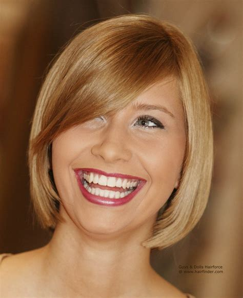 of the hairstyles images blunt cut bob hairstyle with a curved fringe and hair that