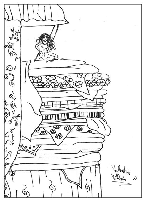 89 coloring page princess and the pea coloring