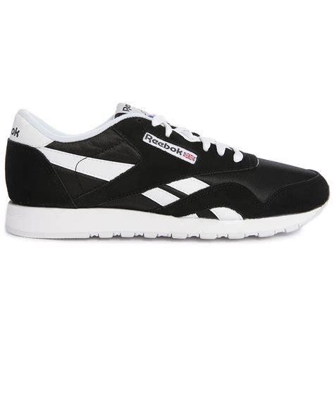 reebok black sneakers reebok classic black sneakers in black for lyst