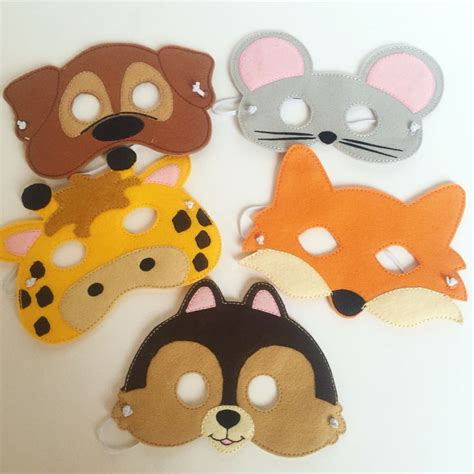 Handmade Animal Masks - animal felt masks by baby whatknots included in n