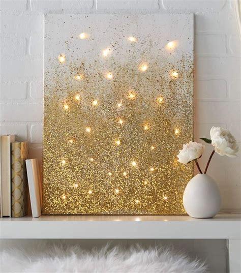 golden home decor 17 best ideas about glitter canvas on glitter