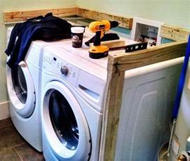 diy room diy laundry room countertop washer dryer
