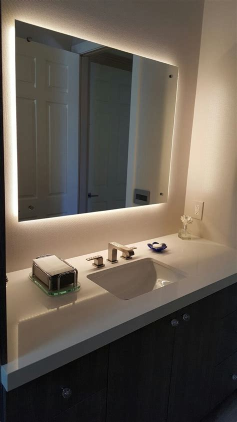 lighted wall mirrors for bathrooms backlit bathroom wall mirrors backlit mirrors