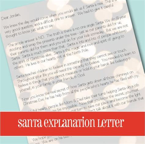 Santa Explanation Letter santa explanation letter letter to explain santa letter