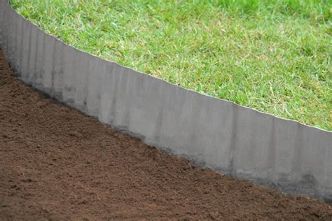 Landscape Edging Alternatives 5m Galvanised Lawn Edging Roll Wavy H16 5cm 163 7 99