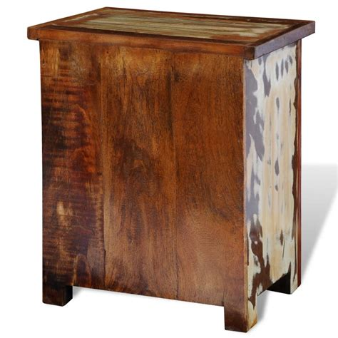the solid wood cabinet company vidaxl co uk reclaimed solid wood bedside cabinet with 2