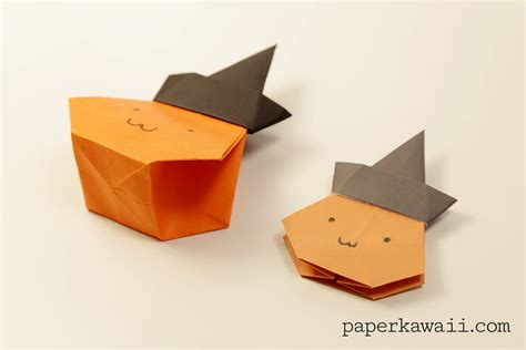 Origami Pumkin - origami pumpkin bag tutorial paper kawaii