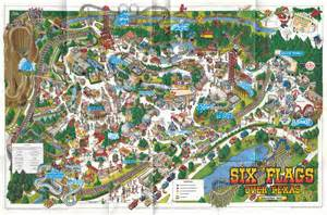 map of six flags theme park brochures six flags theme park