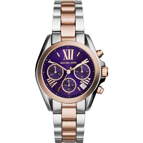 michael kors mini bradshaw two tone chronograph