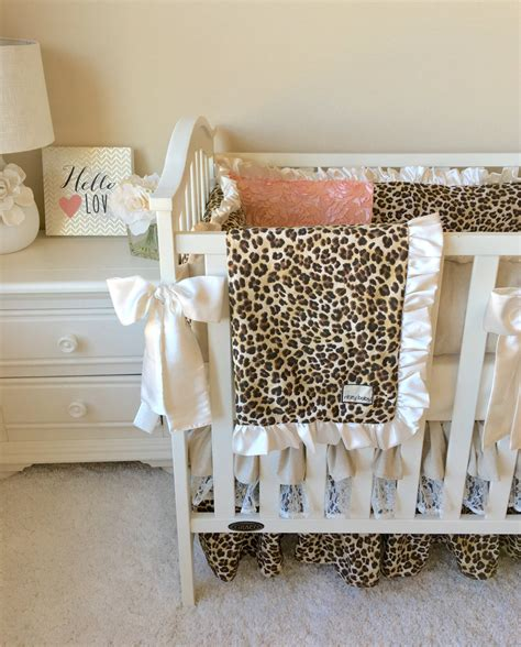 Leopard Crib Bedding Set Leopard Baby Bedding Baby Bedding Set Crib Bedding For