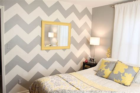 chevron pattern accent wall paint a trendy chevron patterned wall picfish