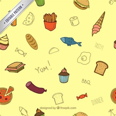 pattern food vector food pattern vector free download