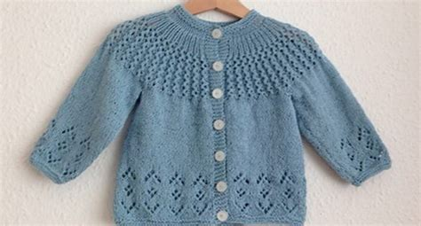 1 Knitted Baby Sweater - rosabel knitted baby cardigan free knitting pattern