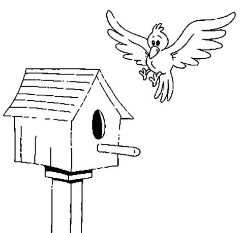 birdhouse coloring page bird houses coloring pages