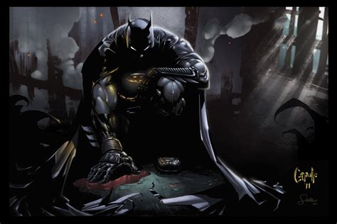 batman digital art fribly