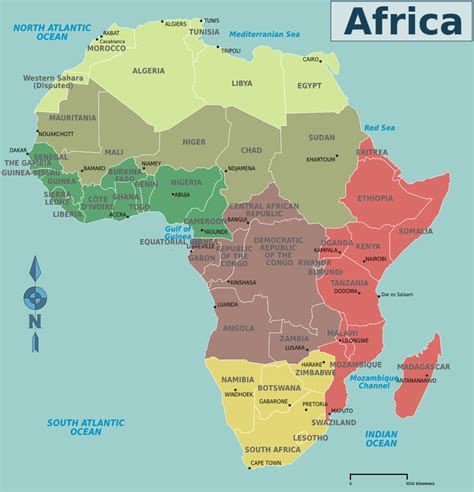 africa countries and capitals map puzzle map of africa with countries and capitals and travel