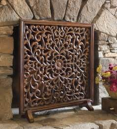 carved wooden fireplace screen fireplace screens