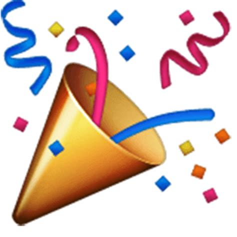 celebration emoji png party popper emoji for facebook email sms id 698