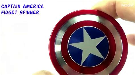 Fidget Spinner Besi Captain Amerika captain america fidget spinner review