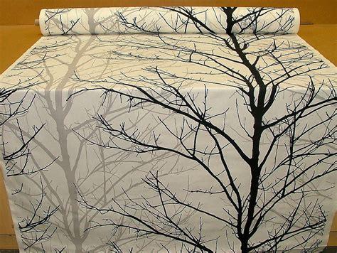 Tree Pattern Fabric Uk | woodland tree print fabric black grey white funky upholstery