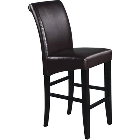 Parsons Bar Stools Leather by Parsons Bar Stool 30 Quot Espresso Leather Walmart