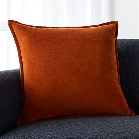 brenner rust orange  velvet pillow