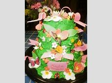 Flower Garden Baby Shower Cakes - Butterflies and Ladybugs ... Free Clipart For Baby Showers For Girls