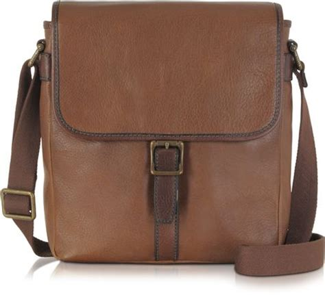 Fossil Satchel Cognac Brown fossil vertical estate city bag in brown for cognac lyst