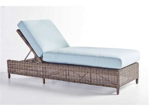south sea rattan wicker cushion side chaise lounge