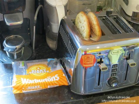 Toaster Crumpets warburtons crumpets et speaks from home