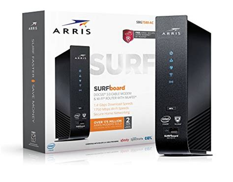 arris surfboard sbg7580ac mcafee docsis 3 0 cable modem