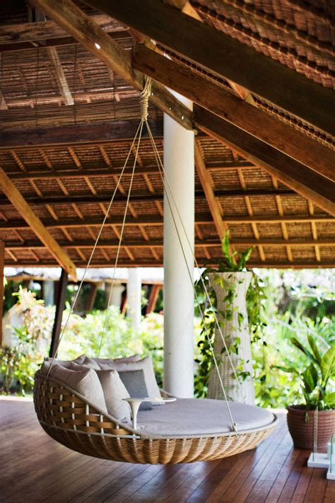 round porch swing paradise found dedon island in the philippines the
