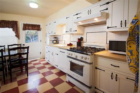 retro kitchen flooring timeless retro cottage kitchen design ideas and other