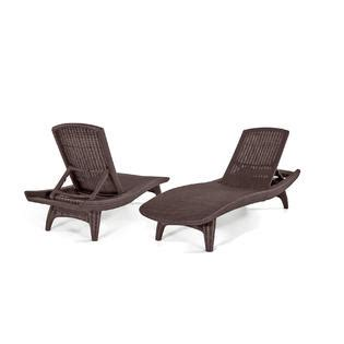 keter chaise lounge keter 2 pack all weather adjustable outdoor patio chaise