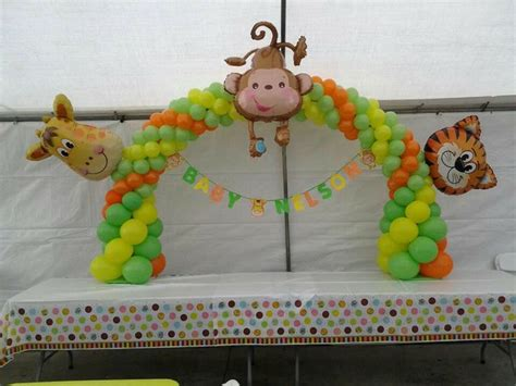 Baby Zoo Animals Baby Shower Decorations by Safari Baby Shower Decoration Animals Balloon Archs