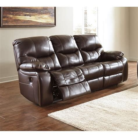 pranas faux leather reclining sofa in brindle 4790088