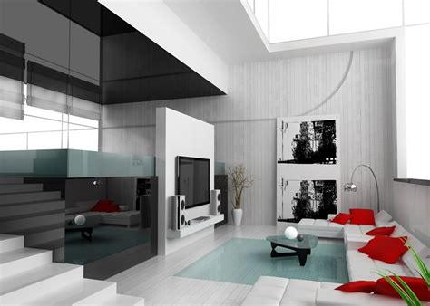 livingroom com duplex house white living room decoration design